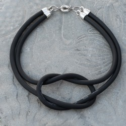 Black Micro - Cable Marine Knot Necklace